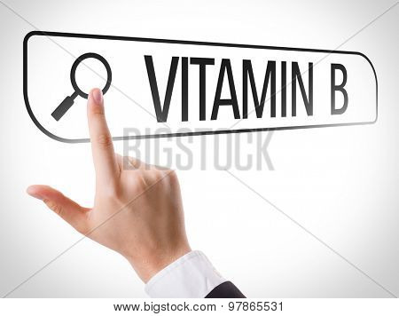 Vitamin B written in search bar on virtual screen