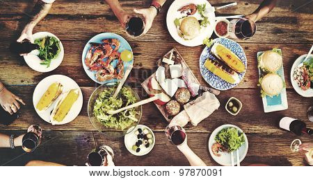 Food Table Delicious  Meal Prepare Cuisine Concept