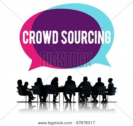 Crowd Sourcing Collaboration Group Online Community Concept poster