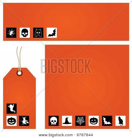 Orange Halloween Set