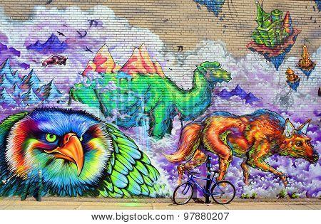 Street art Montreal animals