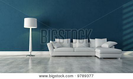 White and Blue interior