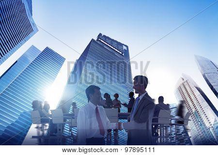 City Scape Business Team Teamwork Meeting Collaboration Concept