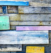 Disorder Tropical wooden wall-wooden paint with multi color poster
