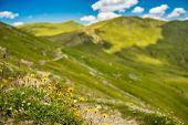 Mountains landscape in Nockalm Strasse Austria, outdoor shot poster