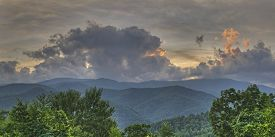 Sunset Through The Clouds, Great Smoky Mountains