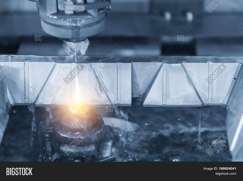 Close- Wire - EDM CNC Machine While Image & Photo | Bigstock