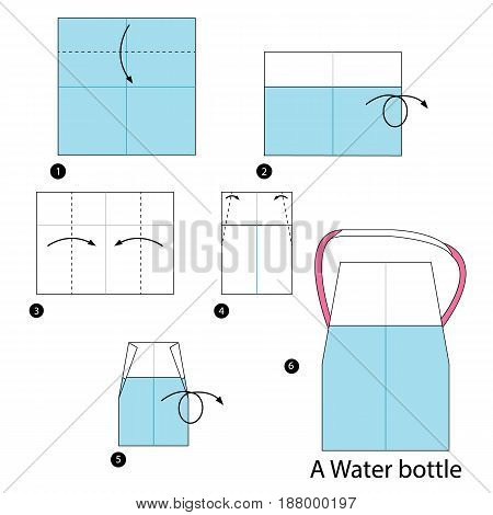 step by step instructions how to make an origami  A Water Bottle.