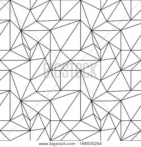 Abstract colored seamless pattern. Black and white polygonal wallpaper. Vector illustration