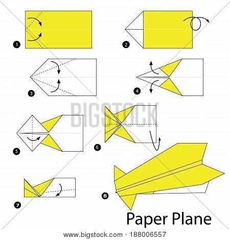 step by step instructions how to make origami A Plane.