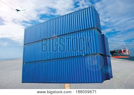 container shipping by sea import export to customer for opportunity.