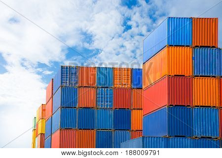 container shipping trader import export goods to customer.