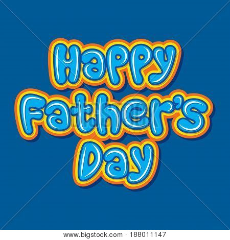 creative happy fathers day poster or greeting design