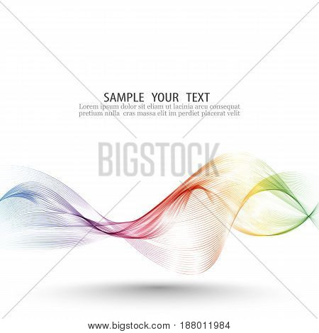 Abstract wave vector background, lines for brochure, website, flyer design. Spectrum wave color. Smoky color wave.