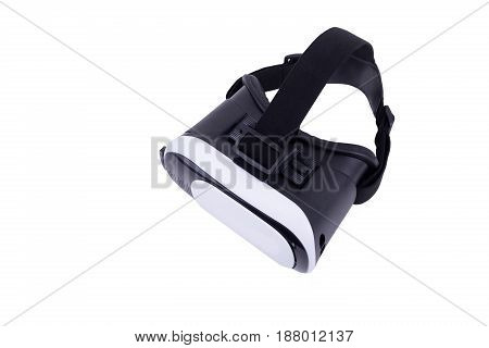 Top View On Vr Virtual Reality Glasses Isolated On White Background.