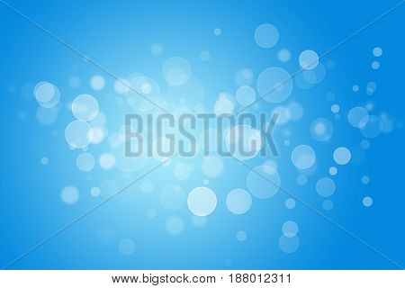 abstract background blue bokeh circles for blue background