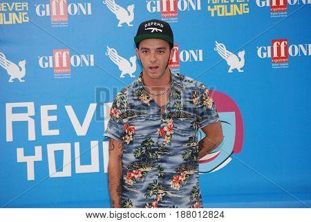 Giffoni Valle Piana Sa Italy - July 26 2013 : Salmo at Giffoni Film Festival 2013 - on July 26 2013 in Giffoni Valle Piana Italy