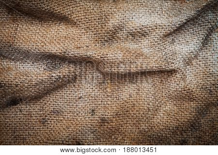 sack texture crumpled ,Cloth burlap large photo made of natural materials, environmentally friendly raw materials