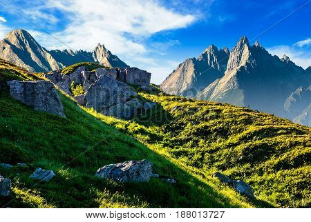 Rocky Hills In Mountains