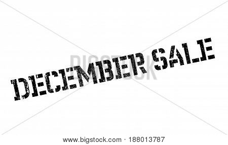 December Sale rubber stamp. Grunge design with dust scratches. Effects can be easily removed for a clean, crisp look. Color is easily changed.