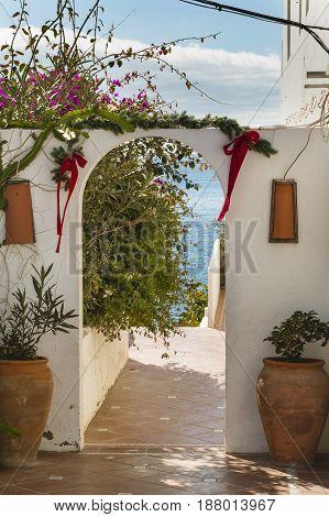 Garden Gate In Lanzarote, Spain