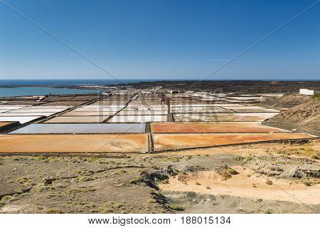 Salinas De Janubio In Lanzarote, Spain