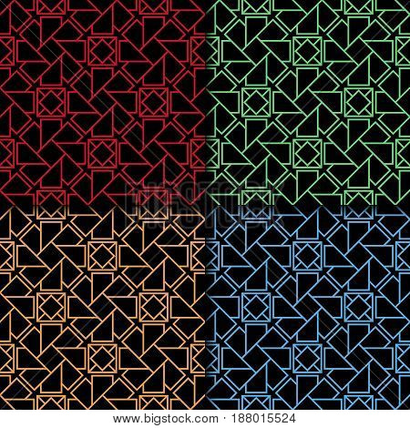 Arabic seamless patterns. Colored ornaments for textile and fabric. Vector illustration