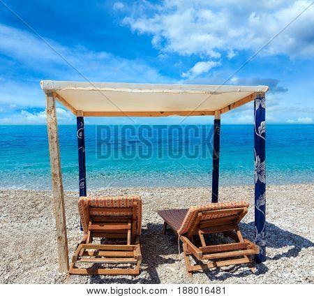 Summer Morning Albanian Riviera Beach.