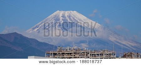 Mount Fuji At The Sunny Day In Japan