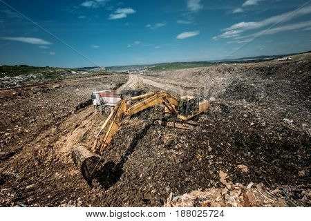Excavation Works For Environmental Purpose. Heavy Duty Machinery Details