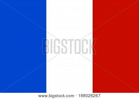 Official national flag of France, Vector illustration