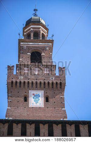 Castello Sforzesco (sforza Castle) In Milan, Lombardy, Italy, 13-05-2017