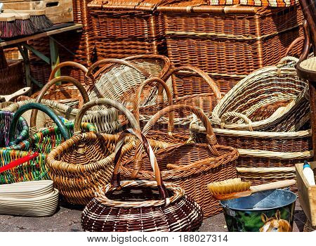 Shopping for colorful carry all wicker woven baskets