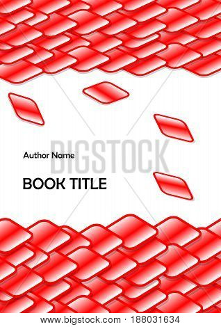 Abstract template design for book leaflet flyer report with multicolored cubes and Rubik cube