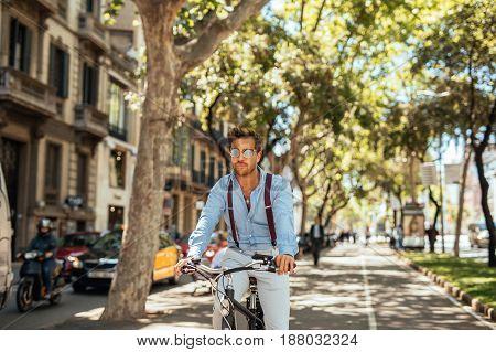 Enjoying A Bike Ride