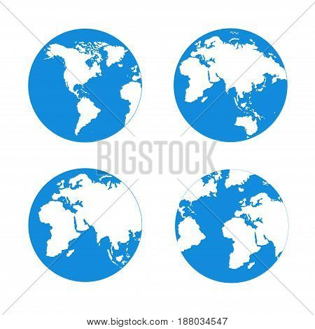 Map Of The World On A White Background