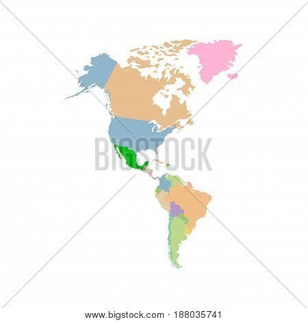Territory of USA with contour. Vector illustration