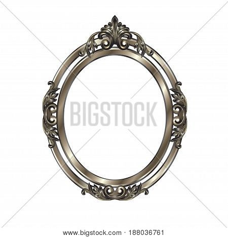 Decorative Frame Of Silvery Color