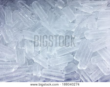 Close up ice cube for pattern and background