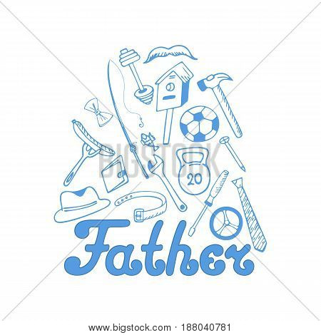 Father's day. Men's Accessories. Instruments. Sports equipment