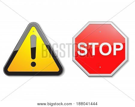 Vector illustration of traffic signs. File is in eps10 format