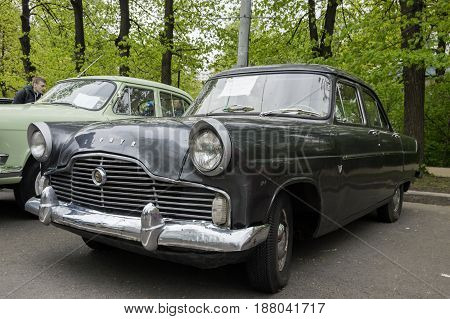 MOSCOW, RUSSIA - May 21, 2017. Retro car show exhibion in Sokolniki park. Ford Zephyr - classic car