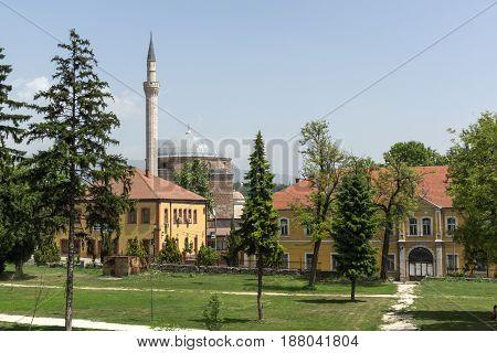 SKOPJE, REPUBLIC OF MACEDONIA - 13 MAY 2017: Mustafa Pasha's Mosque in Skopje, Republic of Macedonia