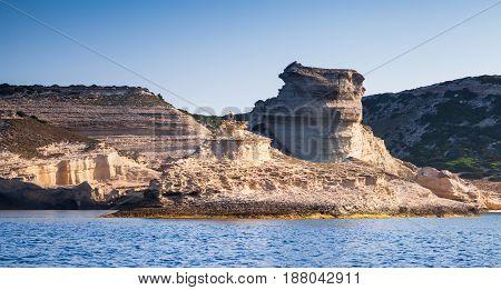 Coastal Rocks Of Mediterranean Island Corsica