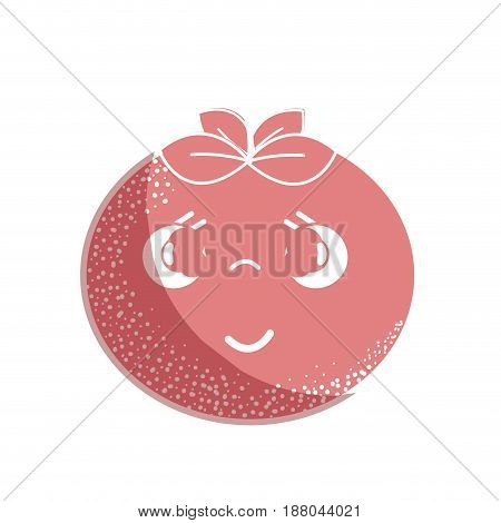 silhouette kawaii nice sad tomato vegetable, vector illustration