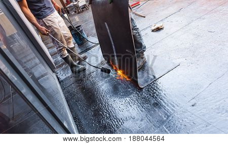 insulation and waterproofing of the building foundation