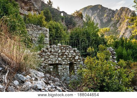 North Necropolis. Ruins Of Ancient City Olympos In Lycia. Turkey