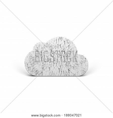 Cloud Icon with binary Pattern. Web Design vector Element