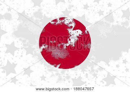 Vector Japanese grunge flag. Using for decoration works.