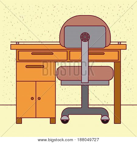 color background with sparkles closeup work place office interior vector illustration